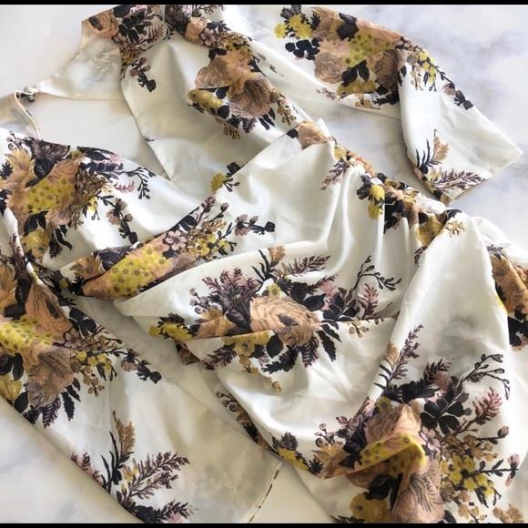 ASOS Floral Cutout Back Sash Mini Dress